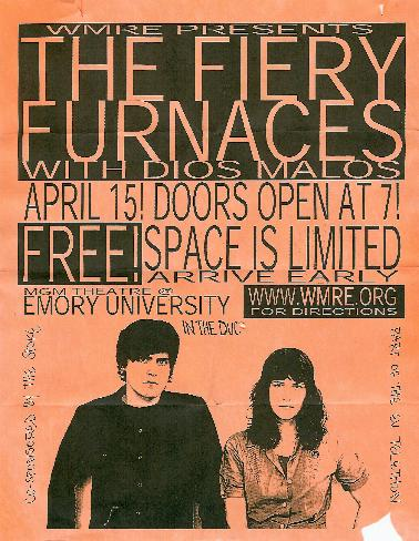 fiery furnaces poster