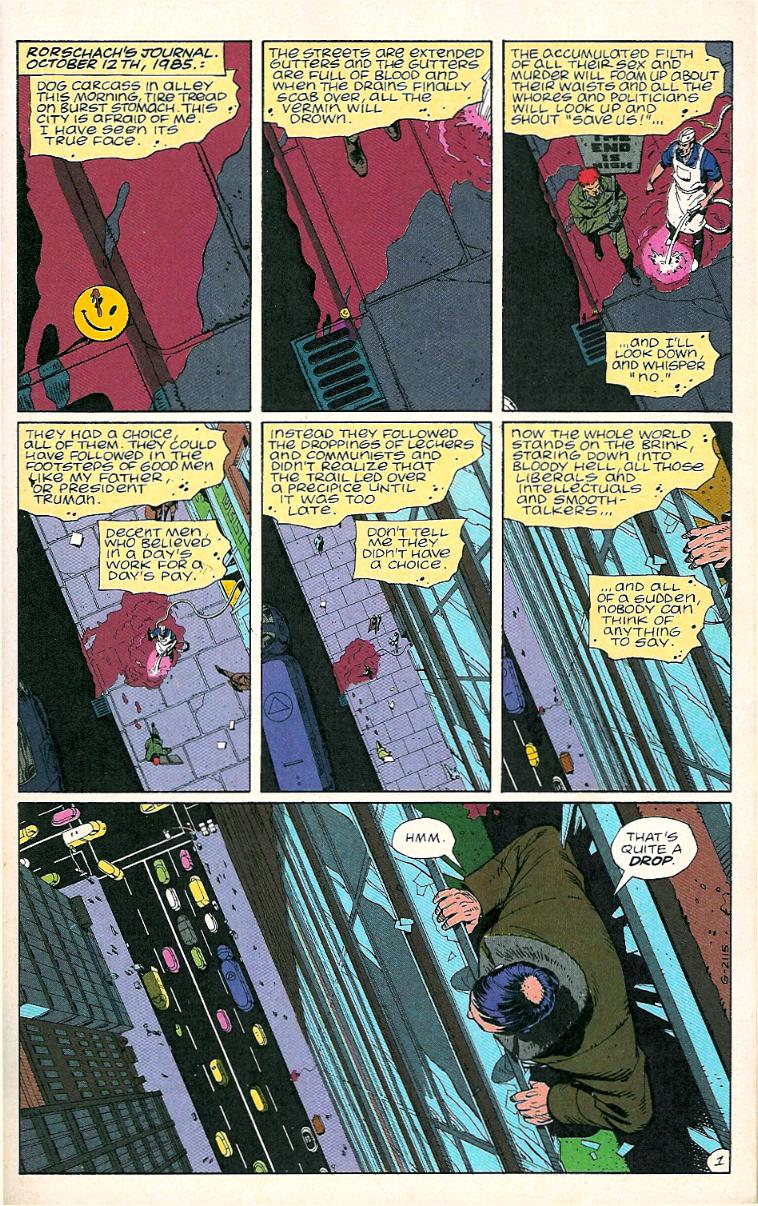 Watchmen, issue 1, page 1